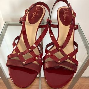 Gorgeous New Cole Haan Deep Red Strappy Sandals!